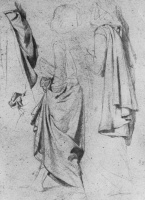 Edgar Degas. Study of drapery