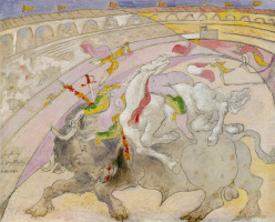 Pablo Picasso. Corrida. The death of a woman bullfighter