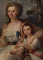 Michelangelo. Portrait of Countess Anna Protassova niece, fragment