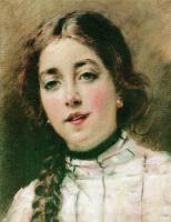 Константин Егорович Маковский. Портрет дочери художника. Оленька