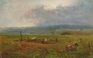 Fedor Ivanovich Yasnovsky. Landscape. Private collection