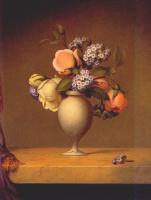 Мартин Джонсон Хед. Розы и гелиотропы в вазе на мраморной столешнице