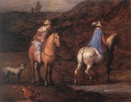 Ян Брейгель Старший. Всадники на лошадях