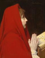Жюль Жозеф Лефевр. Красный платок.