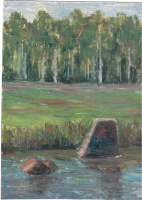 Arkady Pavlovich Laptev. River glade