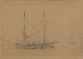 Ivan Aivazovsky. Sailing ship