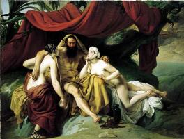 Франческо Айец. Лот и его дочери
