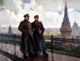 Александр Михайлович Герасимов. Сталин и Ворошилов в Кремле
