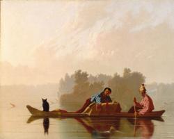Джордж Калеб Бингем. «Торговцы пушниной на реке Миссури»