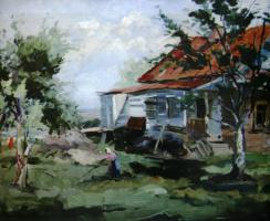 Сергей Арсеньевич Виноградов. Сельский пейзаж