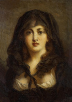 Fedor Petrovich Chumakov. Portrait of a young woman.