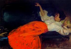 Женщина отдыхает