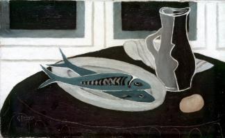 Жорж Брак. Натюрморт с рыбой