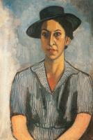 Портрет женщины в черной шляпе