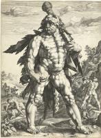 Хендрик Гольциус. Геракл. 1589  резцовая гравюра