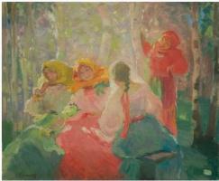 Павел Дмитриевич Шмаров. Крестьянки в роще