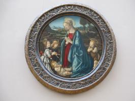 Франческо Боттичини. La Vierge adorant lEnfant entourée de Saint Jean-Baptiste enfant et de deux Anges