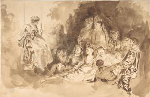 Eugene Delacroix. Swing (Summer stories)