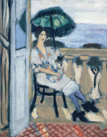Henri Matisse. Woman holding umbrella