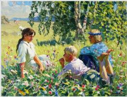 Федор Васильевич Шапаев. Дети на лугу.