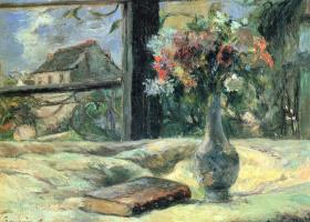 Поль Гоген. Ваза с цветами на окне