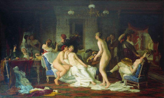 Firs Sergeevich Zhuravlev. Bachelorette party in the bath