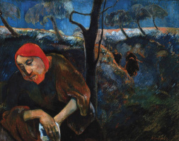 Paul Gauguin. Christ in the garden of Gethsemane (self-portrait)