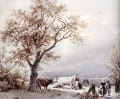 Баренд Корнелис Куккук. Рогатый скот пасется
