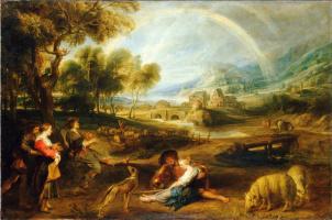Питер Пауль Рубенс. Пейзаж с радугой
