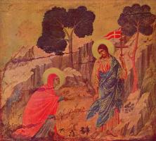 Дуччо ди Буонинсенья. Явление Христа Магдалене