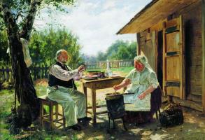 Владимир Егорович Маковский. Варят варенье