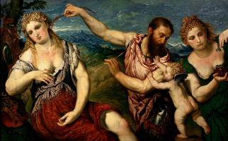 Paris Bordon. Allegory with the love of Mars and Venus