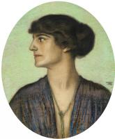 Franz von Pieces. Портрет дамы в профиль.