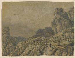 Геркулес Сегерс. Горная долина с плато
