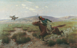 Eugene Alexandrovich Tikhmenev. Hunting with eagles.