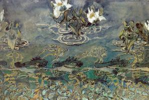 Mikhail Aleksandrovich Vrubel. Water lilies