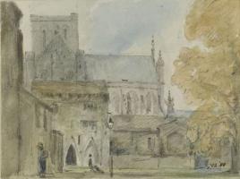 Джон Констебл. Винчестерский собор: дом настоятеля с южной стороны