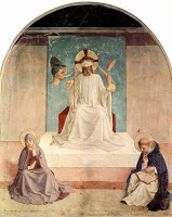 Фра Беато Анджелико. Цикл фресок доминиканского монастыря Сан Марко во Флоренции, сцена: Осмеяние Христа