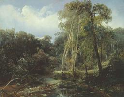 Fedor Ivanovich Yasnovsky. In the vicinity of Kuntsev. Nizhny Novgorod State Art Museum