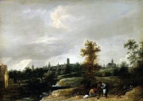 Давид Тенирс Младший. Вид окрестностей Брюсселя