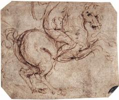 Леонардо да Винчи. Эскиз всадника
