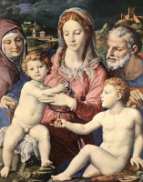 Аньоло Бронзино. Богородица с младенцем
