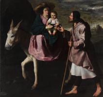 Francisco de Zurbaran. The flight into Egypt