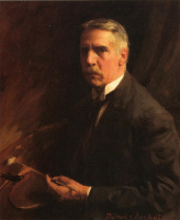 Томас Поллок Аншутц. Портрет мужчины