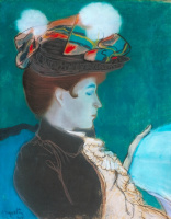 Луи Анкетен. Девушка, читающая газету. 1890