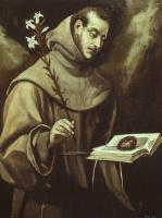 Эль Греко (Доменико Теотокопули). Святой Антоний Падуанский