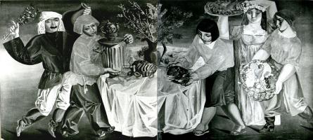 Валентин Васильевич Демьяненко. Фрагмент росписи ресторана