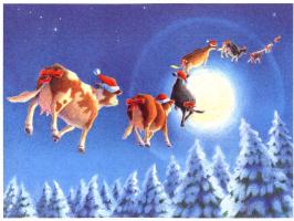 Даниэль Лейн. Рождественские коровы 1