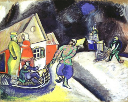 Marc Chagall. Snow. Winter in Vitebsk