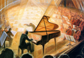 Элиан Бергелин. Фортепиано с оркестром